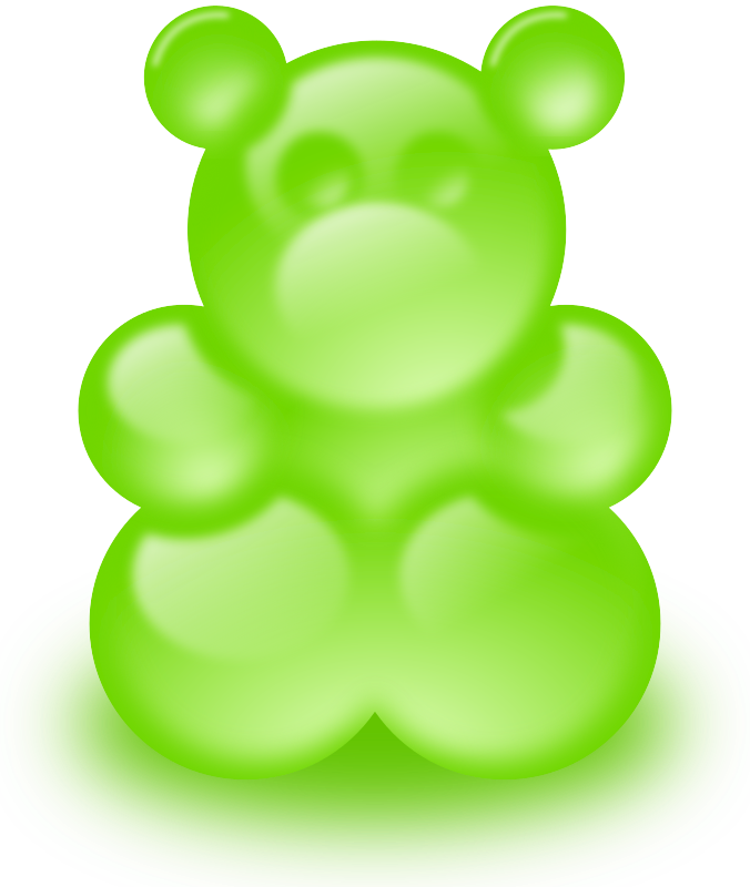 Gummy bear (sort of) by lemmling - Played with the blur slider and cheap glossy effects :-) Not really satisfied with the result, but I thought someone might like it.