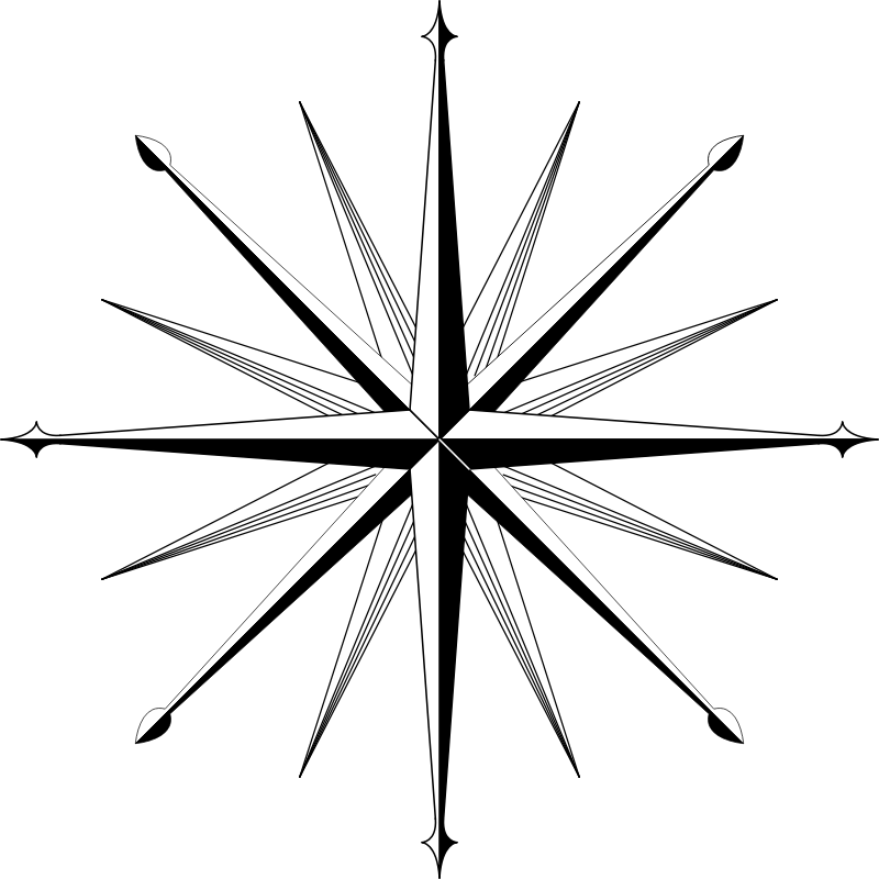 wind rose / compass rose 2 by urwald - Like version 1, but with better peaks