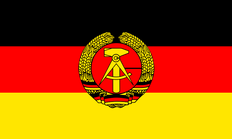 Flag of the German Democratic Republic by tobias - Flag of the German Democratic Republic.