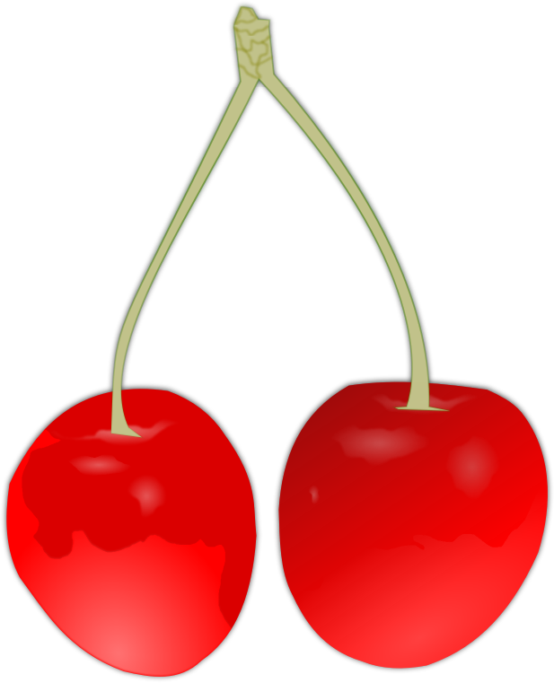 cherry by hatalar205 - A simple cherry clipart.