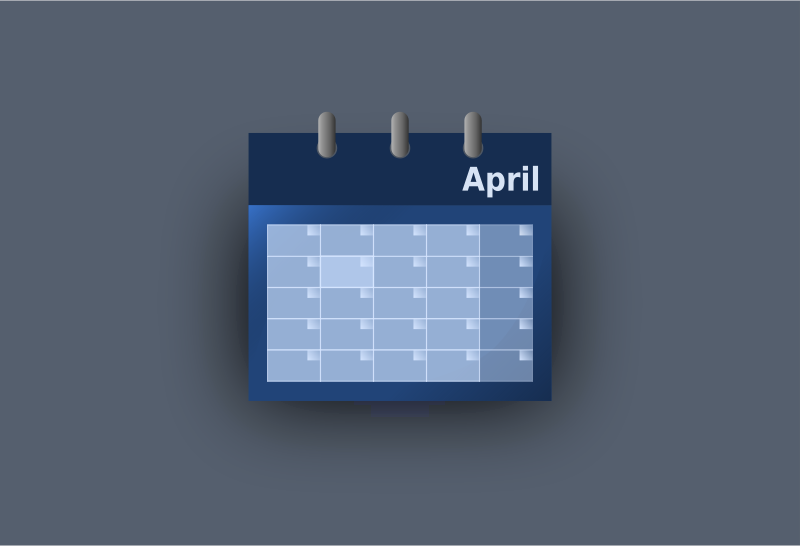 Blue UI calendar by inkscaper