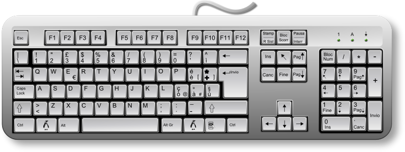 Linux Keyboard Remix by Merlin2525 - A remix of Fabiovaleggia's Italian Keyboard clip art. Added some gradients. I also added a penguin for the Super Key. Thanks go to Tandiljuan for his penguin clip art found at  http://openclipart.org/detail/3690/ping%EF%BF%BDino-2.0-by-tandiljuan