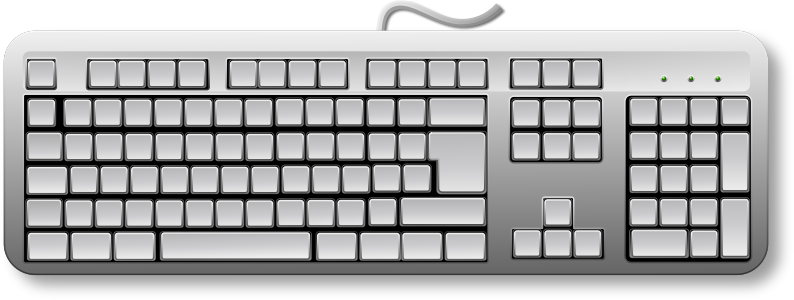 Blank Generic Keyboard by Merlin2525 - A remix, this time with a clean slate, a blank generic keyboard.