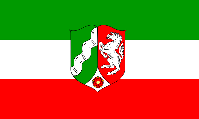 Flag of North Rhine Westphalia by tobias