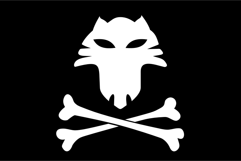 Jolly Roger Cat by pogoneo - Jolly Roger has entered the waters of The Back Alley and has met a cat
