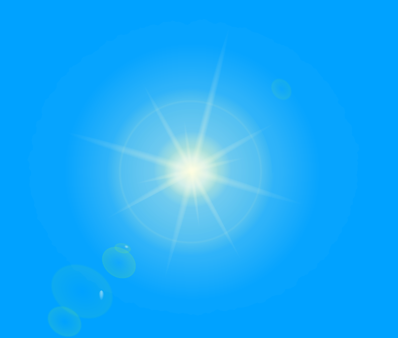 Sun by frankes - Sun with blue background.