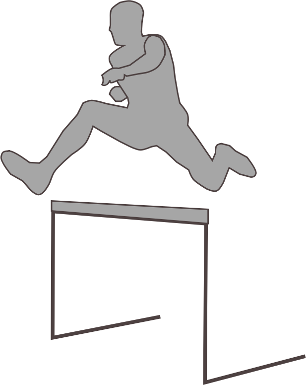 hurdling_silhouette by Fabuio - the silhouette of a man jumping an obstacle
