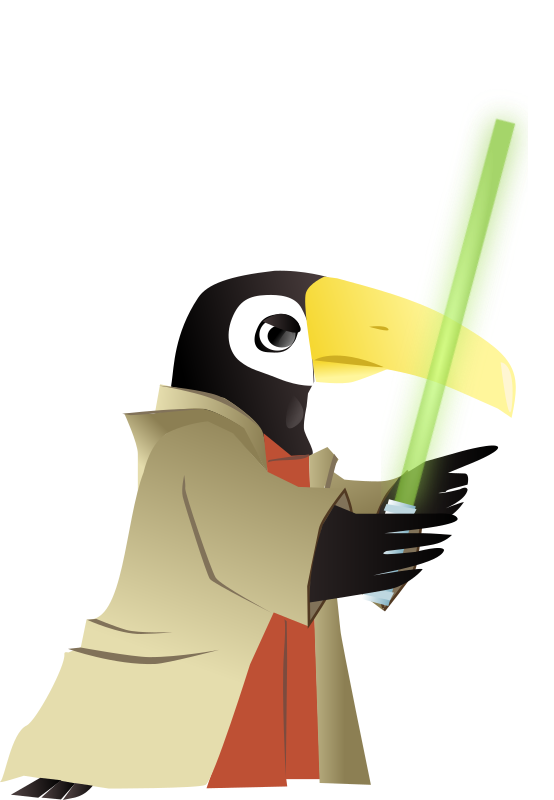Toucan Jedi Master by sissone