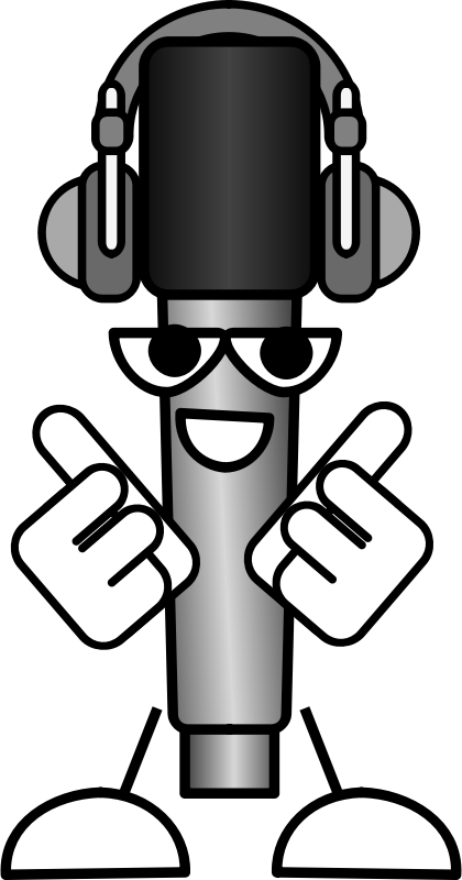 Mike the Mic with Headphones by Bibbleycheese - Mike the Mic wearing headphones
