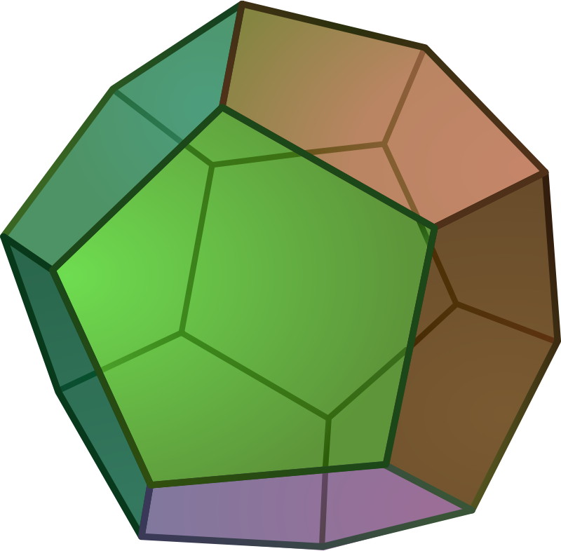 octahedron by leojyh - https://zh.wikipedia.org/wiki/File:POV-Ray-Dodecahedron.svg
