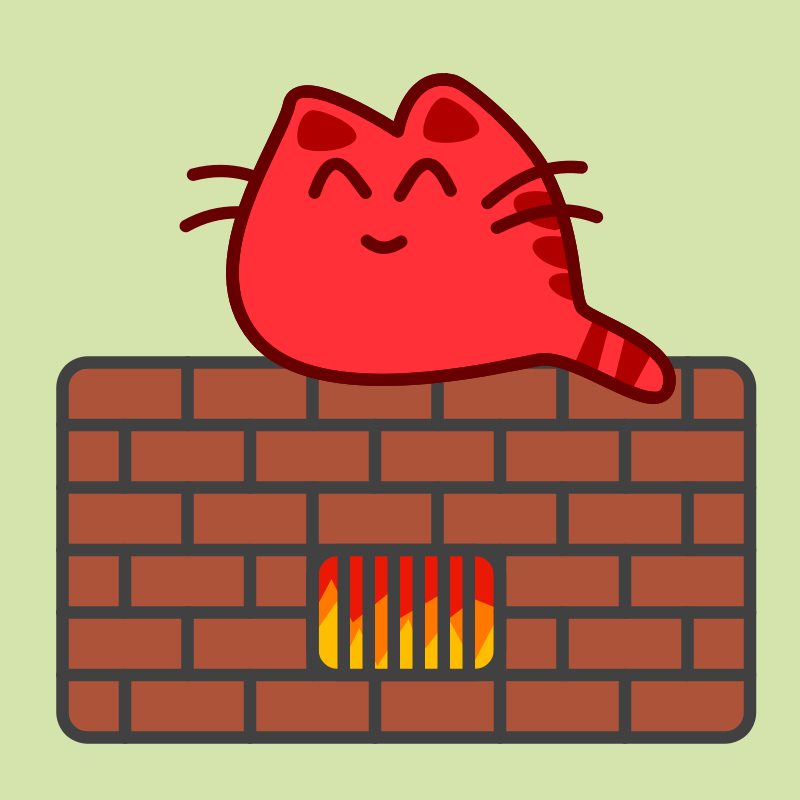 Happy Cat on Warm Oven by qubodup