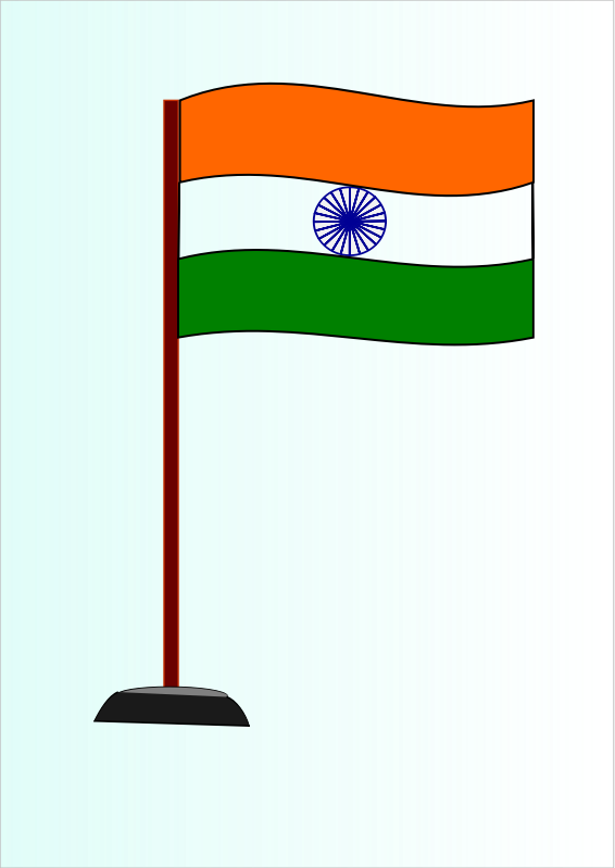 Indian National Flag by saurabhgup889 - The Indian National Flag is a horizontal tricolour of deep saffron at the top, white in middle & dark green at the bottom in equal proportion.In the centre is a navy-blue wheel which represents the