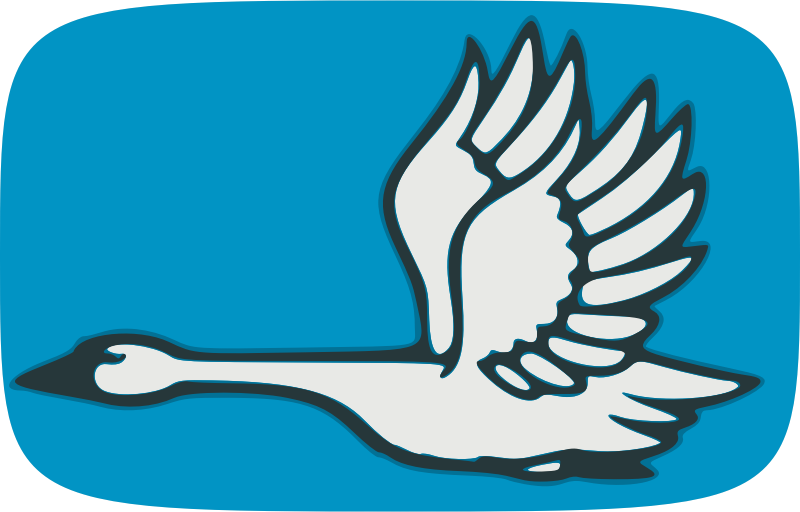 Clipart - Flying swan
