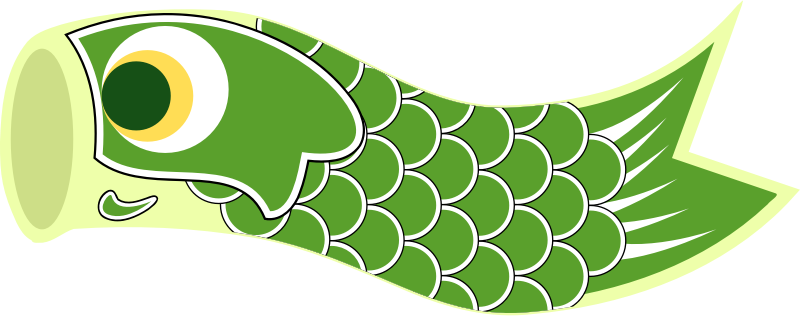 Koinobori Green by uroesch - Koinobori or carp streamer in English are traditionally flown on Children's day (May 5) a dedicated Japanese Holiday.