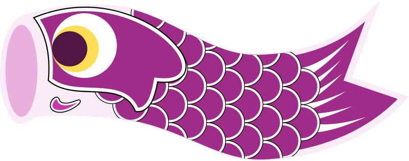 Koinobori Purple by uroesch - Koinobori or carp streamer in English are traditionally flown on Children's day (May 5) a dedicated Japanese Holiday.