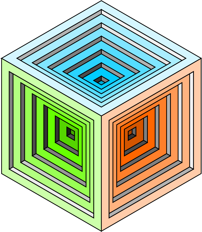 engraved cube 2 by jarda