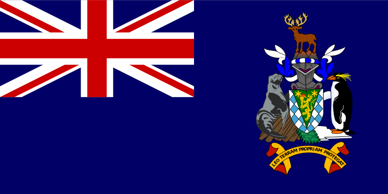 Flag of South Georgia and South Sandwich Islands by tobias