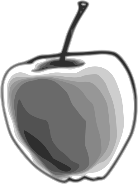 Apple by Child_of_Light - Apple made in GNU/Linux with Inkscape and Mypaint