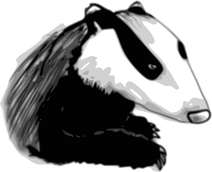 Badger by Child_of_Light - Badger made in GNU/Linux with Inkscape and Mypaint