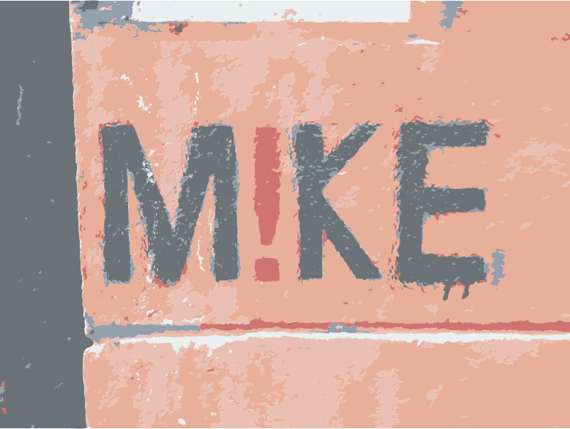Graffiti Mike sign by rejon - His name is mike!