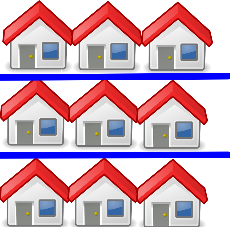 9 houses by Caitmall - Just something I made in my spare time. Also my 3rd ClipArt.