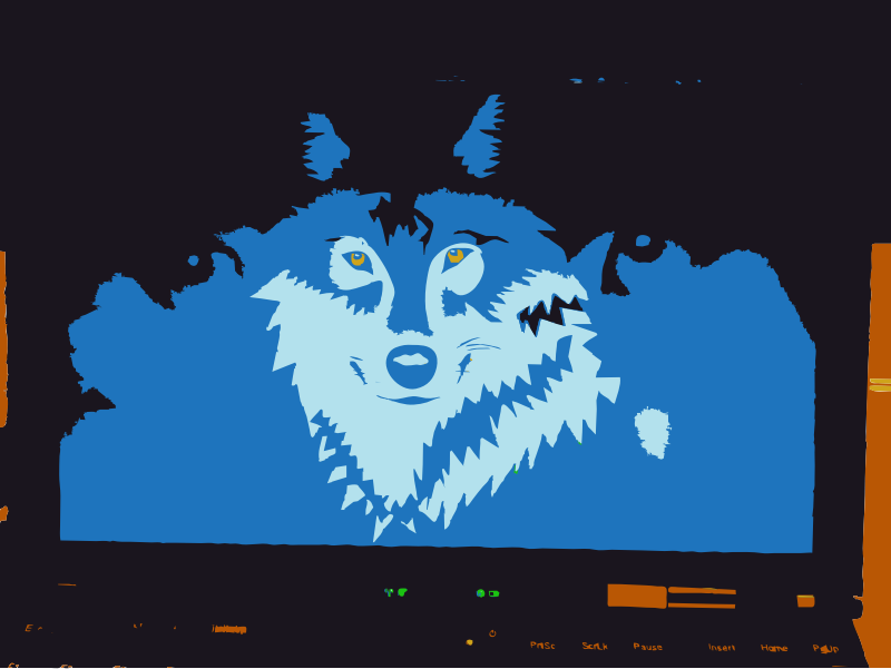Wolf remix from camera to vector by rejon