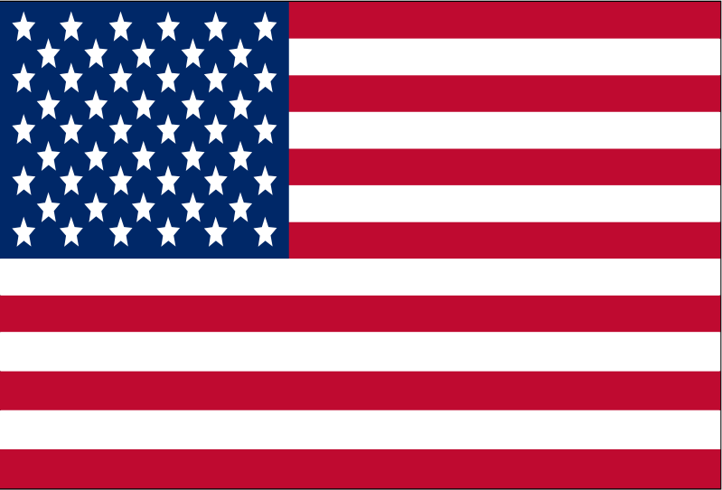 U.S.A. Flag by Caitmall - This is my forth clip art and the American flag.