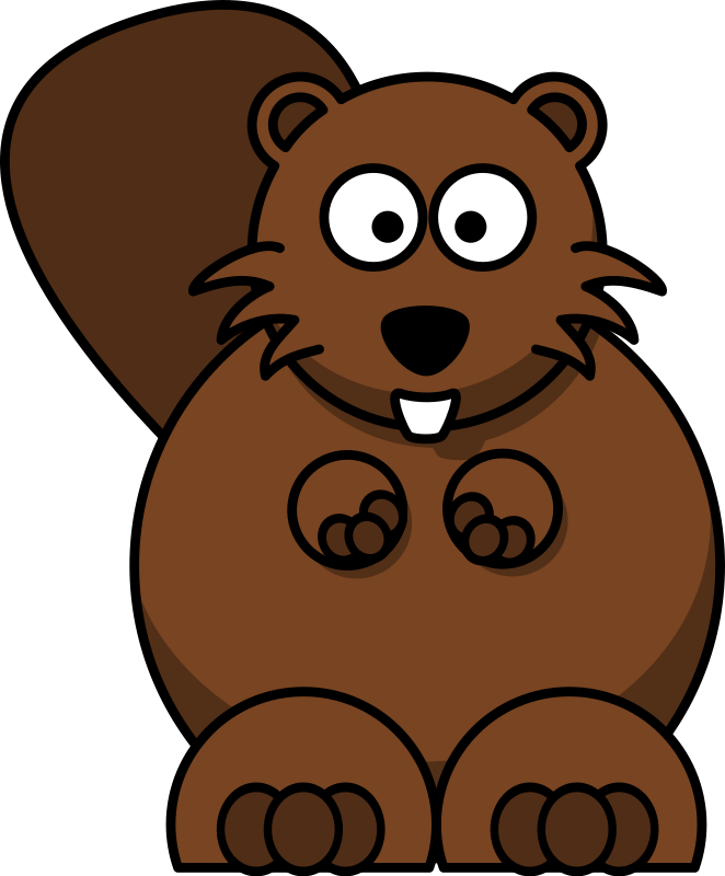 Cartoon beaver by lemmling - clip art, clipart,