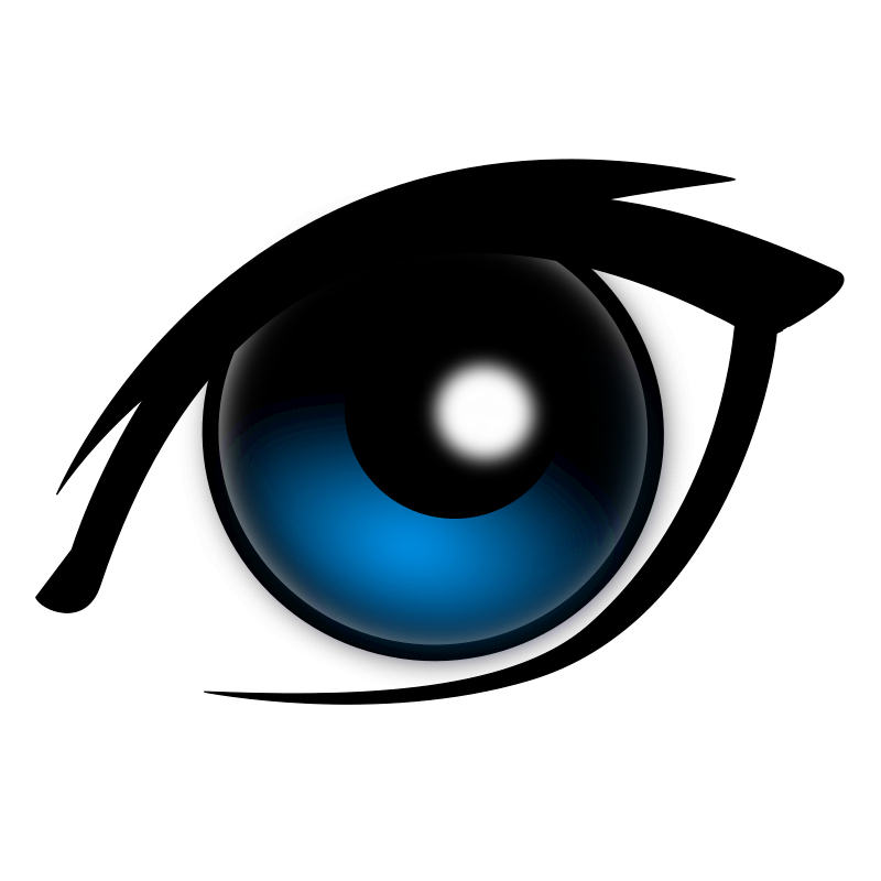 cartoon eye by narrowhouse - Sort of an anime kind of look. I hope it useful to someone.