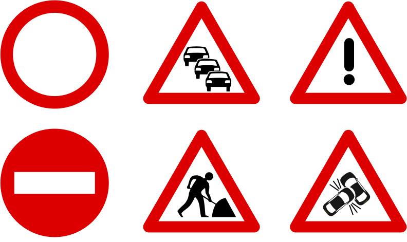 Traffic sign icons by mlampret