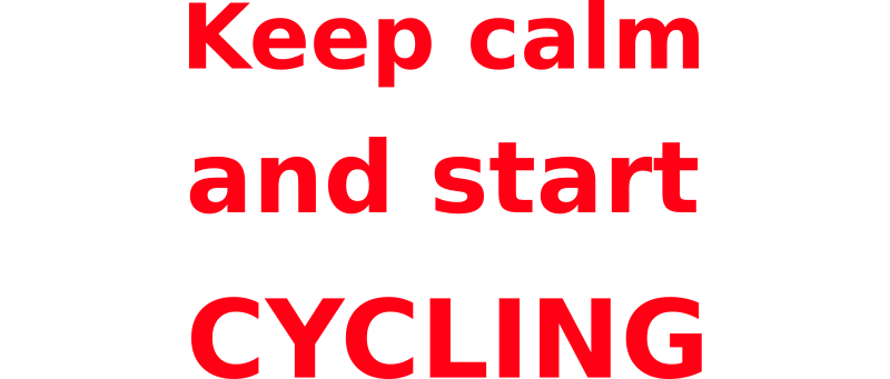 Keep calm & start cycling by mauriceg - Instead of nagging drivers to 'drive safely' and 'respect cyclists', I wanted to send a different kind of message. No threats, no warnings, no anti-car slogans.