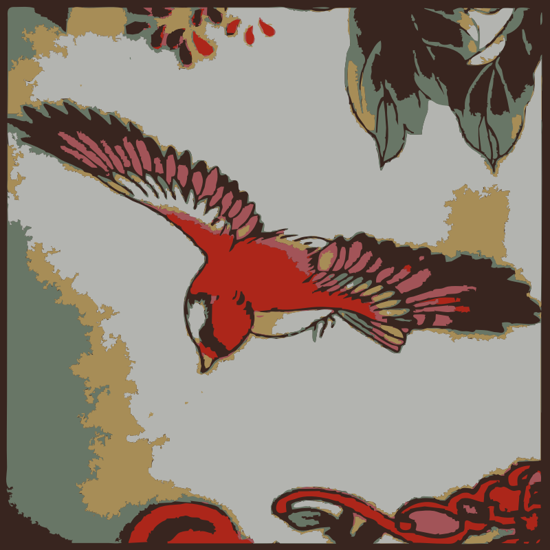 Clipart - A found bird Chinese calligraphy style