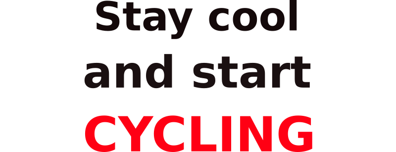 Stay cool & start cycling by mauriceg