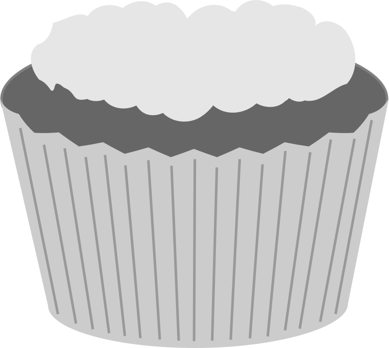 Grayscale cupcake by ScarTissue - A grayscale cupcake