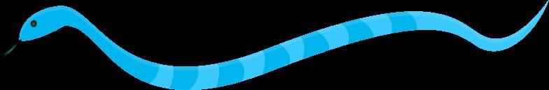 Clipart - Blue Snake