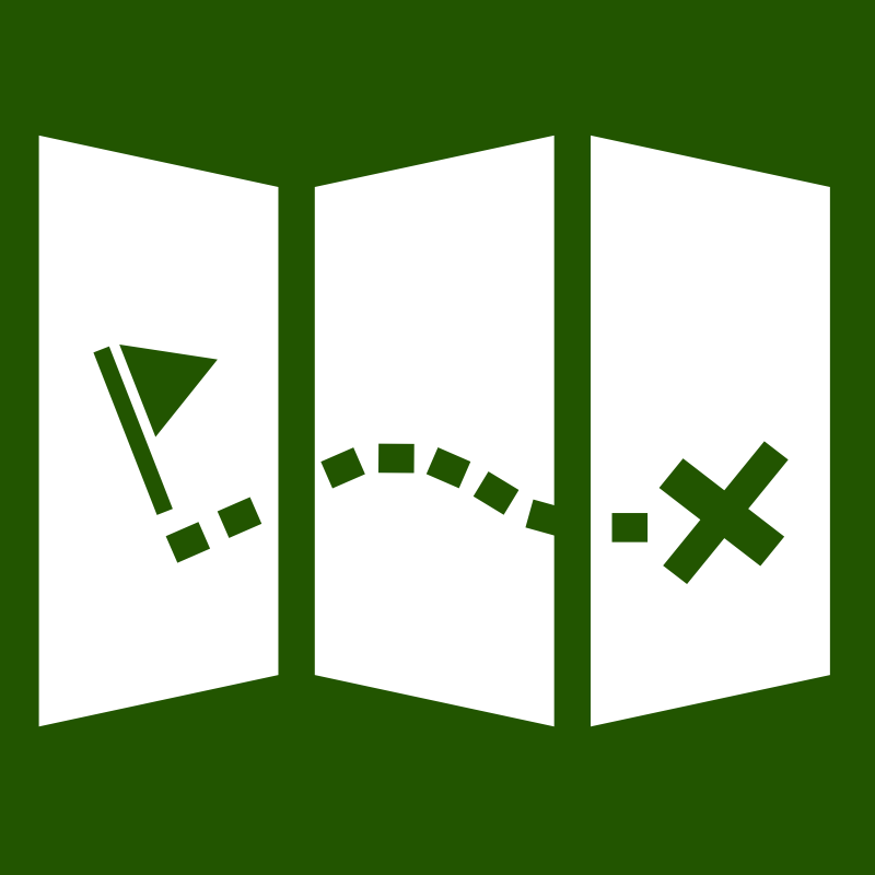 Map icon by fabiovaleggia - map style windows 8