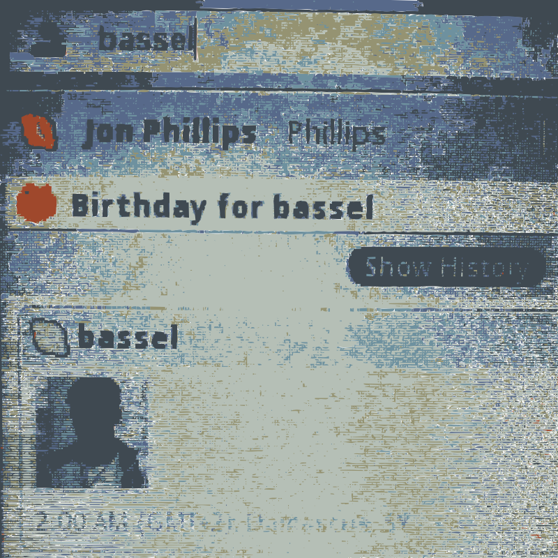 Bassels birthday message by rejon - Surreal to see and we don't have a yet...