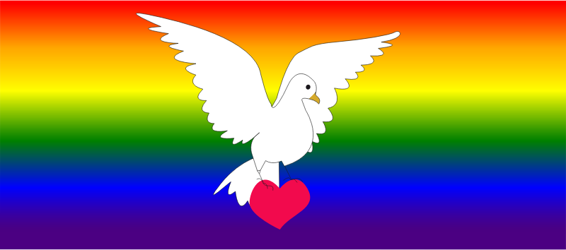 Dove of peace and love by presquesage - Dove of peace and love, Colombe de la paix et d'amour,