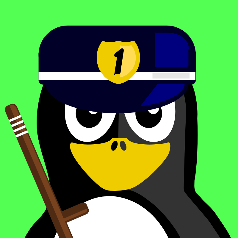 cop penguin by BartM