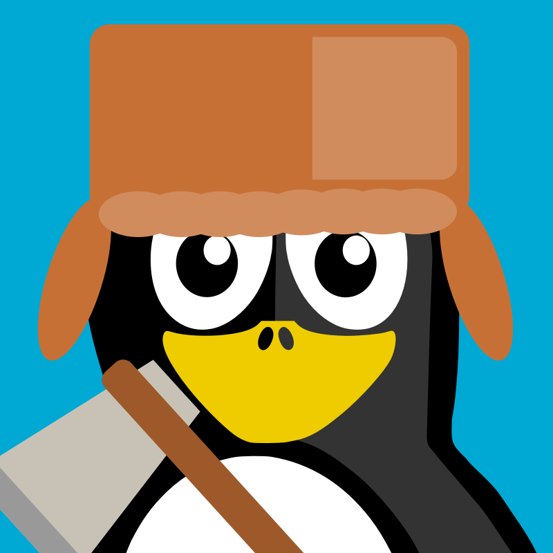 lumberjack by BartM - A penguin in an outfit reminds us of tux from Linux fame.