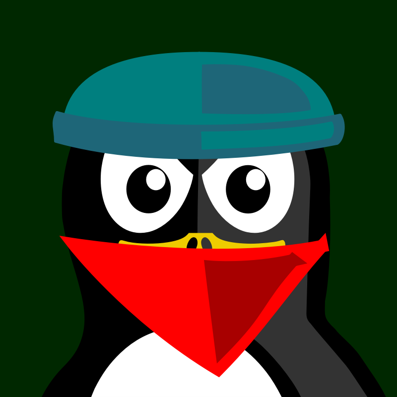 robber penguin by BartM - A penguin in an outfit reminds us of tux from Linux fame.
