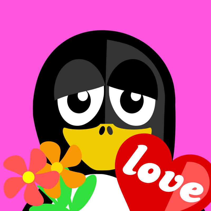 valentine penguin by BartM - A penguin ready for valentines.