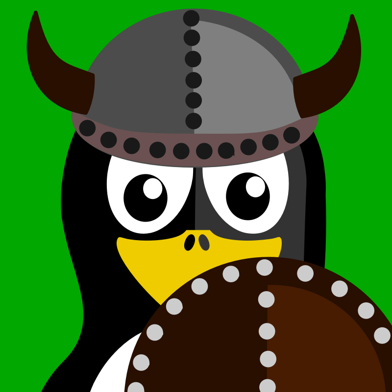 viking penguin by BartM - A penguin dressed as a viking