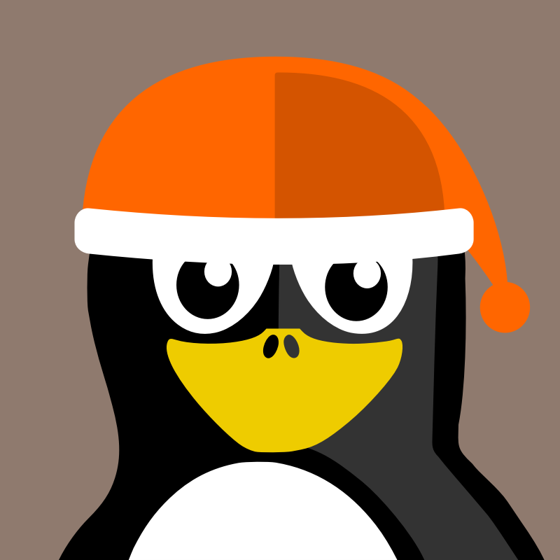 winter by BartM - A penguin with a christmas hat on ready for holidays, or snow.
