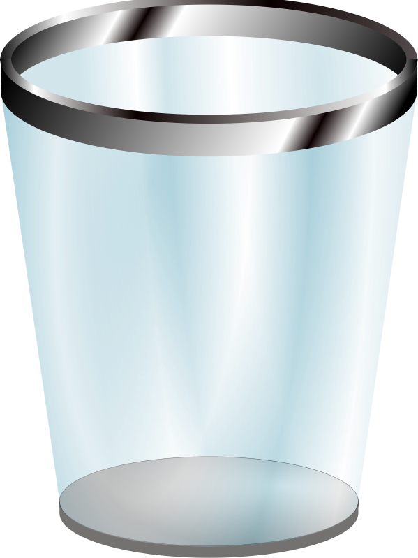 Transparent Trash Can by zlmimi - A transparent trash can symbol.