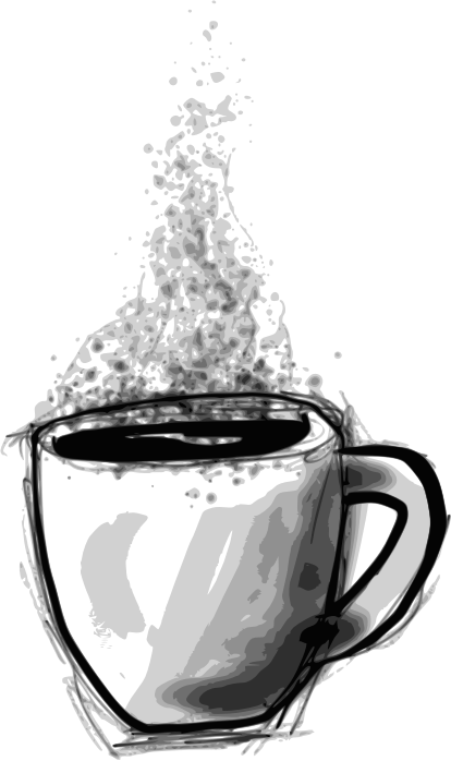 Sketchy Coffee by Child_of_Light - Sketchy coffee cup made in GNU/Linux with Inkscape & Mypaint