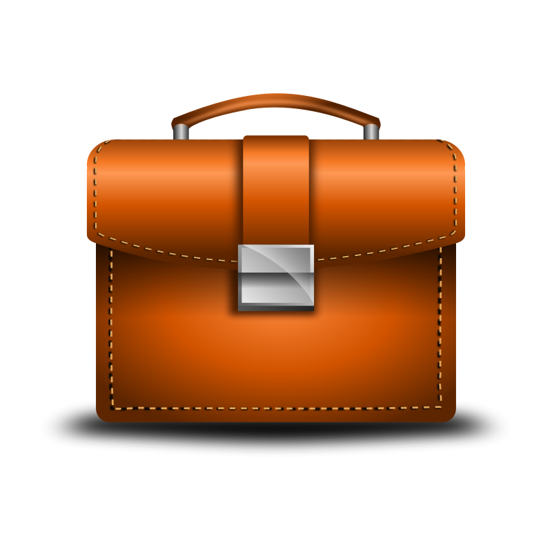 Briefcase Vector by irfanow - This is a briefcase. I made in inkscape software.