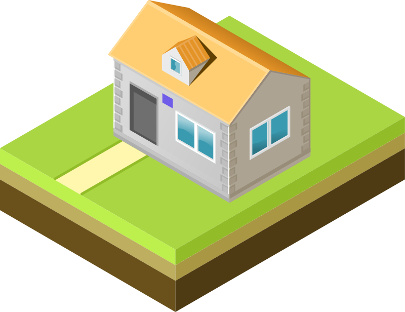 "Isometric house by AhNinniah - Isometric house made for ""Isometric projection in Inkscape"" tutorial - http://ahninniah.blogspot.ru/2013/04/isometric-projection-in-inkscape.html"