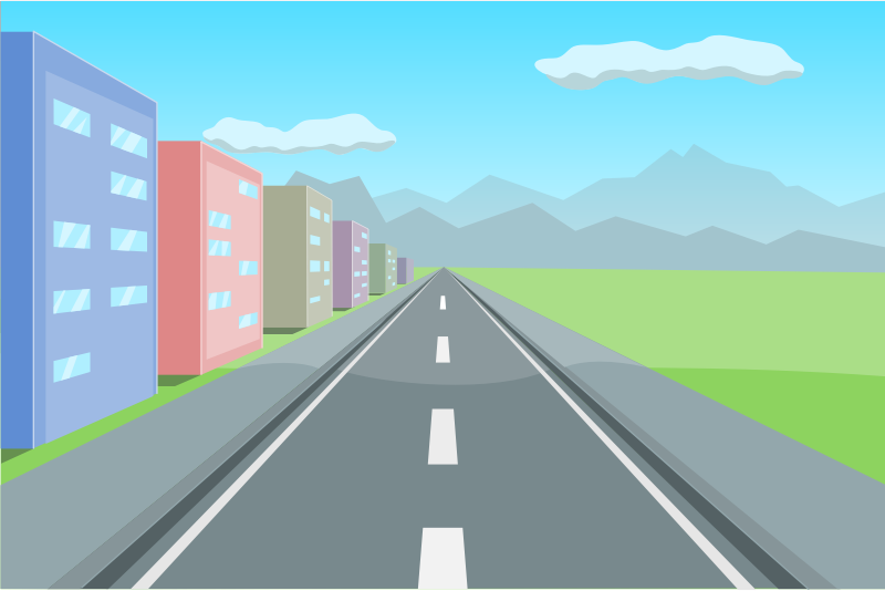 "Road in perspective by AhNinniah - An illustration in one-point perspective made for ""Drawing in perspective with Inkscape"" tutorial - http://ahninniah.blogspot.ru/2013/05/drawing-in-perspective-with-inkscape.html"