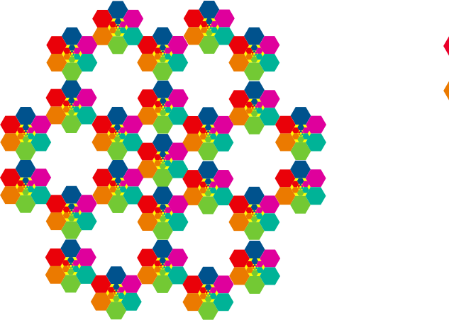 Hexagonal aiflowers 10 by jykhui - Hexagonal aiflowers 10